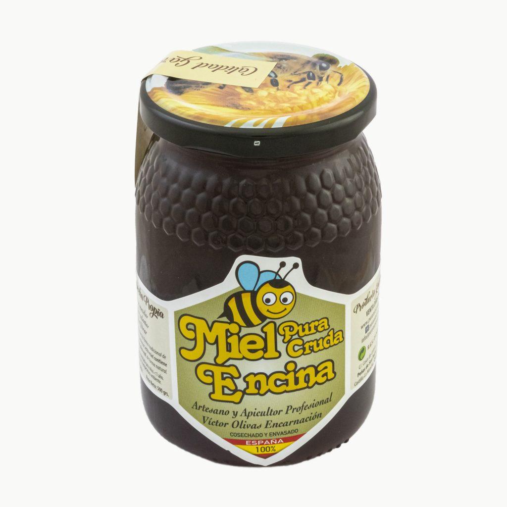 miel cruda de encina